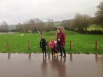 Wet and muddy!