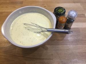 Eggy mix.