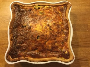 The 'Yummy' finished quiche!